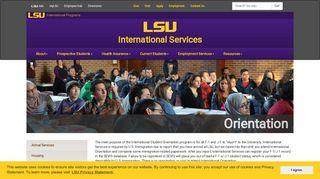 Orientation   International Services - Louisiana State University