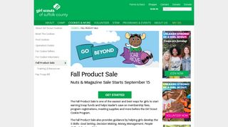 Fall Product Sale   Girl Scouts of Suffolk County