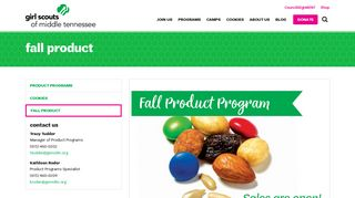 Fall Product   Girl Scouts of Middle Tennessee