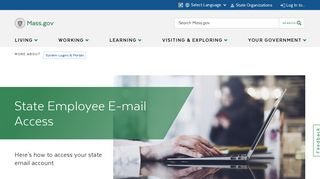 State Employee Email Access   Mass.gov