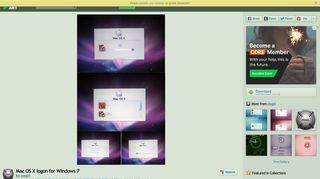 Mac OS X logon for Windows 7 by pegel on DeviantArt