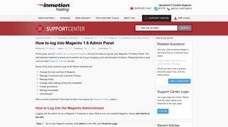How to log into Magento 1.6 Admin Panel | InMotion Hosting