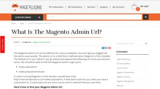What is the Magento Admin Url? - Mage Plugins