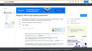 Magento admin login getting redirected - Stack Overflow