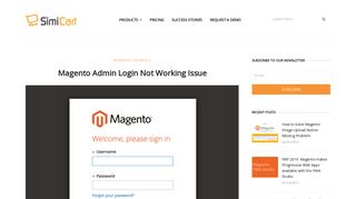 Magento Admin Login Not Working - Magento Tutorials - SimiCart
