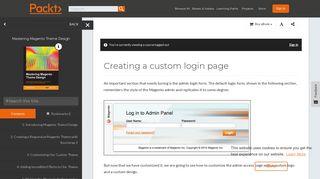Creating a custom login page - Mastering Magento Theme Design