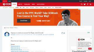 Signup or create an account for Magic Jack - Ccm.net