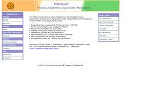 MAHAKOSH - Official Website of DAT Mahrashtra