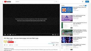 AOL Mail Login - Aol.com Home page   Aol.com Mail Login - YouTube