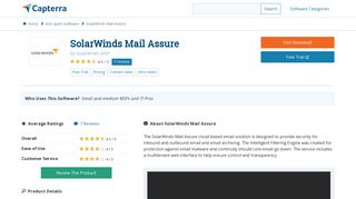 SolarWinds Mail Assure Reviews and Pricing - 2019 - Capterra