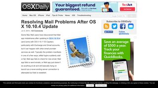 Resolving Mail Problems After OS X 10.10.4 Update - OSXDaily