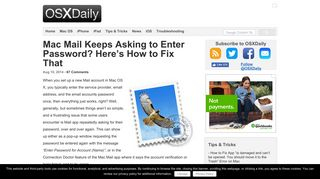 Mac Mail Keeps Asking to Enter Password? Here's How to Fix That