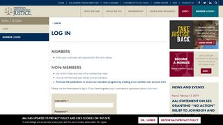 Log in | The American Association For Justice