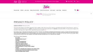 Privacy Policy | Customer Service - Justice