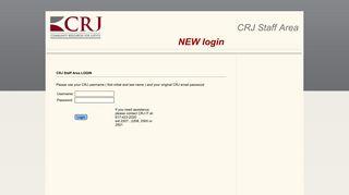 CRJ STAFF AREA login