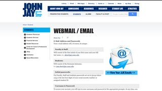 Webmail / Email | John Jay College of Criminal Justice