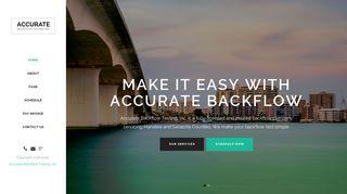 Accurate Backflow Testing Inc. - Backflow Testing, Repairs ...