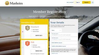 Manheim Registration
