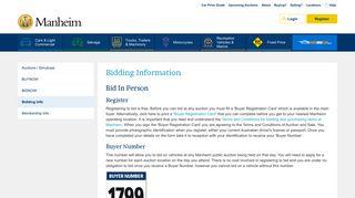 Registration & Bidding Information - Manheim Auctions