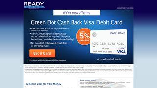 READYdebit: Prepaid Debit Cards, Visa Prepaid Cards, No Credit Check