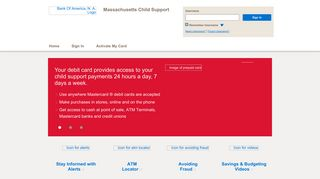 Massachusetts Child Support - Home Page - Bank of America