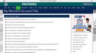 My Mariners Account FAQ   Seattle Mariners - MLB.com
