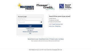 Consumer - Login - Mariner Finance