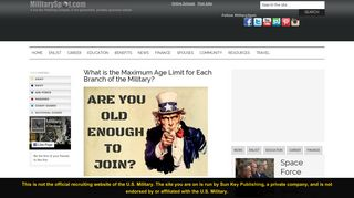 What is the Maximum Age Limit for Each Branch of the Military ...