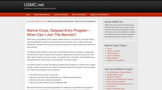 Marine Corps, Delayed Entry Program - When Can I Join The Marines ...