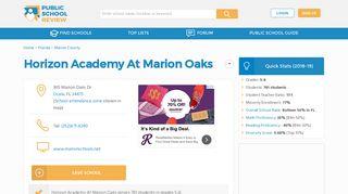 Horizon Academy At Marion Oaks Profile (2018-19) | Ocala, FL