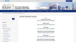 Matrix - New Orleans Metropolitan Association of REALTORS®