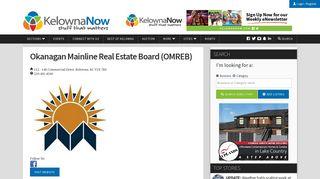 Okanagan Mainline Real Estate Board (OMREB) - KelownaNow