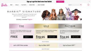 Barbie Signature Membership Sign-Up & Benefits | Barbie ... - Mattel