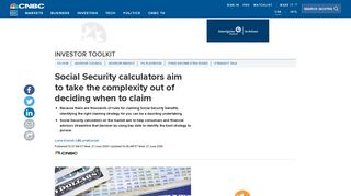 Social Security calculators aim to take the complexity out of deciding ...