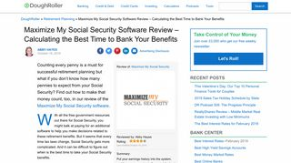 Maximize My Social Security Review - Calculating the Best Time to ...
