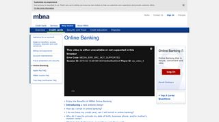 Learn About Credit Cards & Online Banking: Help   Canada   MBNA