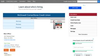 McDowell CornerStone Credit Union - Marion, NC