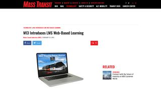 MCI Introduces LMS Web-Based Learning - Mass Transit
