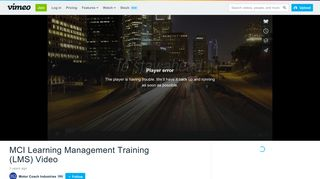 MCI Learning Management Training (LMS) Video on Vimeo