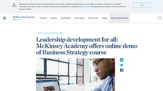 Leadership development for all: McKinsey Academy offers online ...