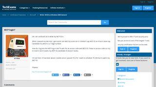 MCP login? — TechExams Community