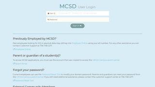 Login - MCSD