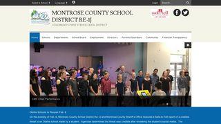 Montrose County School District RE-1J: Home