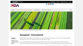 Geospatial - International - MDA