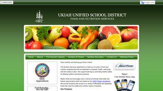 Ukiah Unified School District - School Nutrition And Fitness