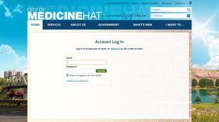 Account Log In   City of Medicine Hat