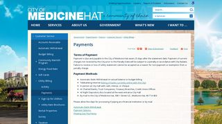 Payments   City of Medicine Hat