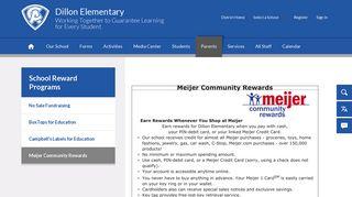School Reward Programs / Meijer Community Rewards