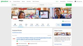 Meijer - In my interview Meijer is blown up to be this great place to ...