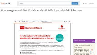 Vodafone login mein Είσοδος στο